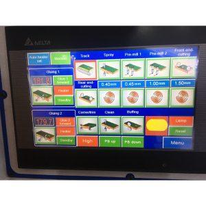 touch screen for multiroll edger