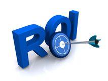 roi sign illustration return investment arrow center target business concept 41755265